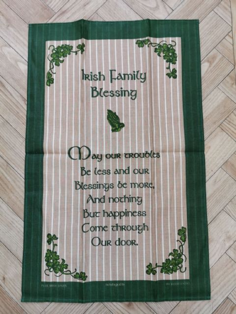 Irish Family Blessing Tea Towel
